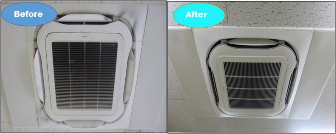 空調機分解洗浄業務実施完了(R2.9実施)